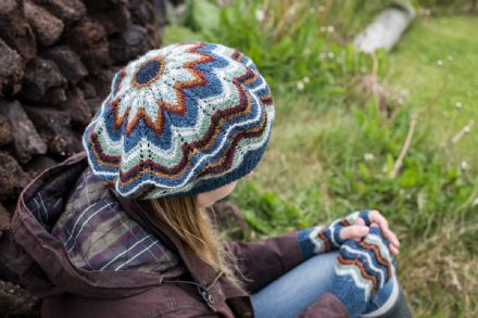 Atlantic Lace Hat and Fingerless Gloves - Wilma Malcolmson